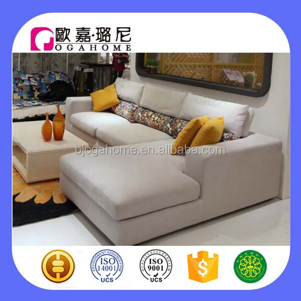 S1970 ogahome hot sell velvet corner sofa set design