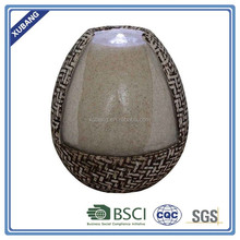 Tabletop stone finish Jar indoor water fountain with led outdoor