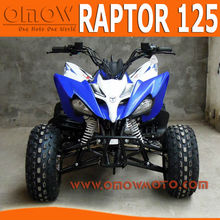 2014 New Raptor 125cc Gas Four Wheelers For Kids