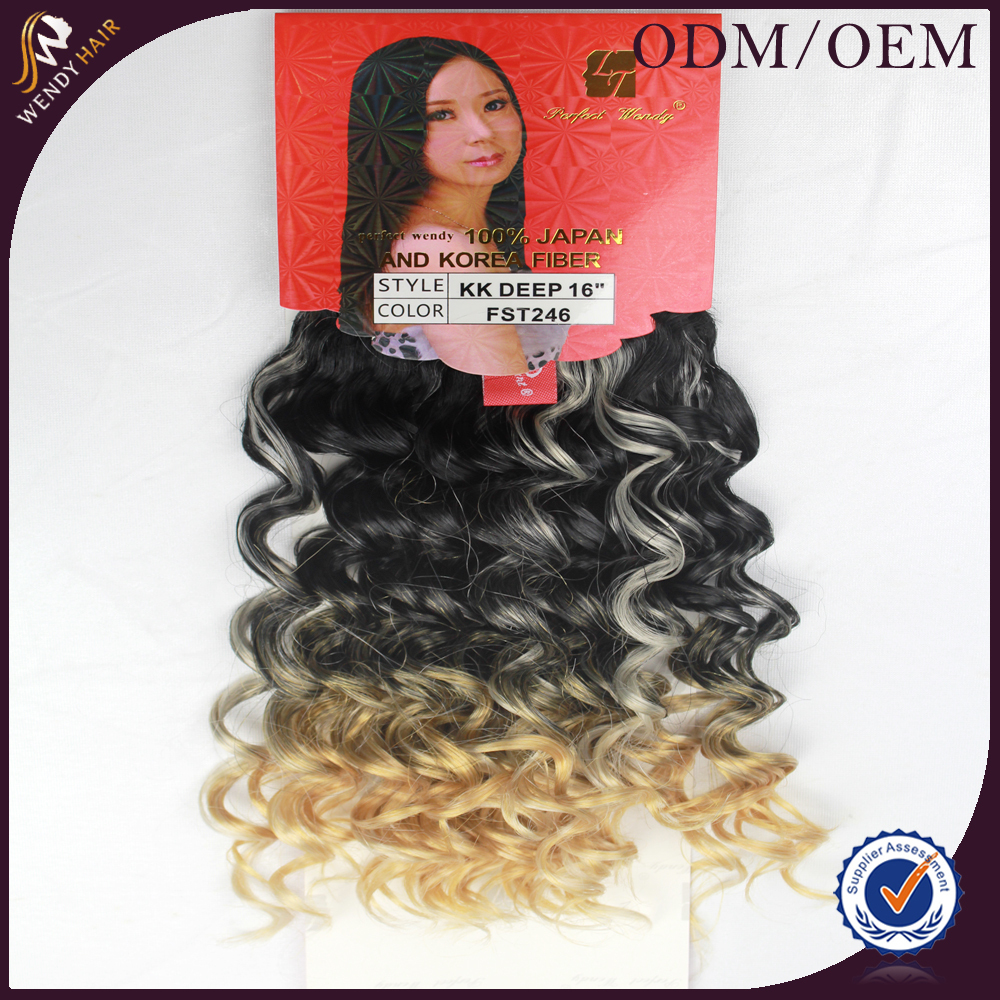 Popular Sale OTHER synthetic curly hair weave