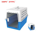 Waterproof moveable convenient design travel pet cage airline approved plastic pet carrier