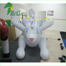 New style creative design flying white inflatable wolf