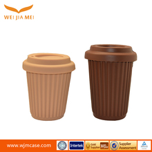 Factory price fashion design heat proof silicone keep cup coffee mug for lid leakproof