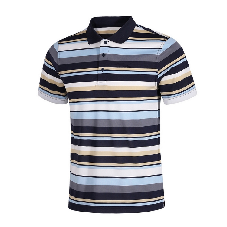 2016 new design men polo t shirt 100% Cotton Striped Polo T Shirt Wholesale In China