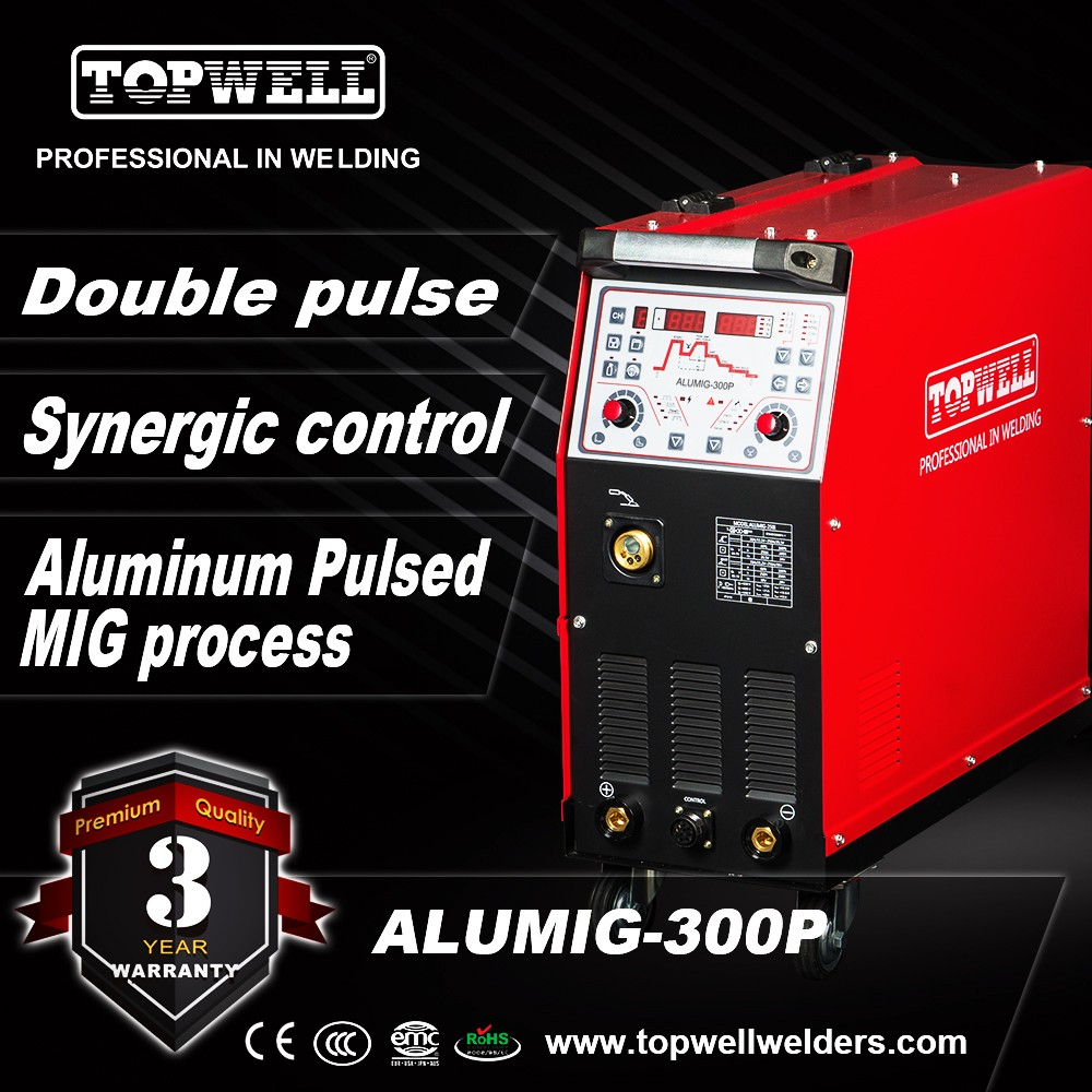 Double pulse 300amp aluminum mig welding machine ALUMIG-300P