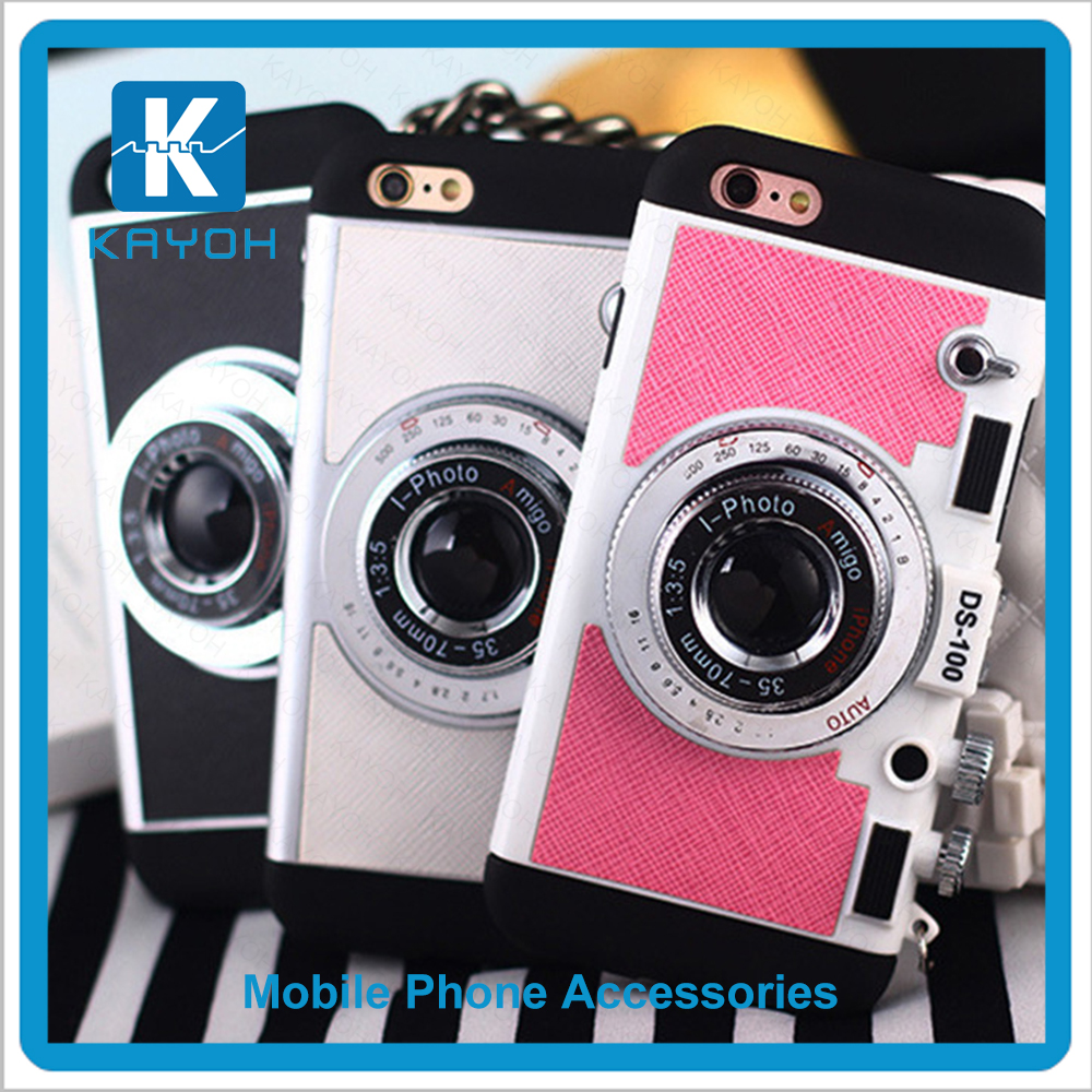 [kayoh]wholesale cell phone case Special Design Camera Style PC silicone cool phone cases best cases for <strong>iphone</strong> 6 plus
