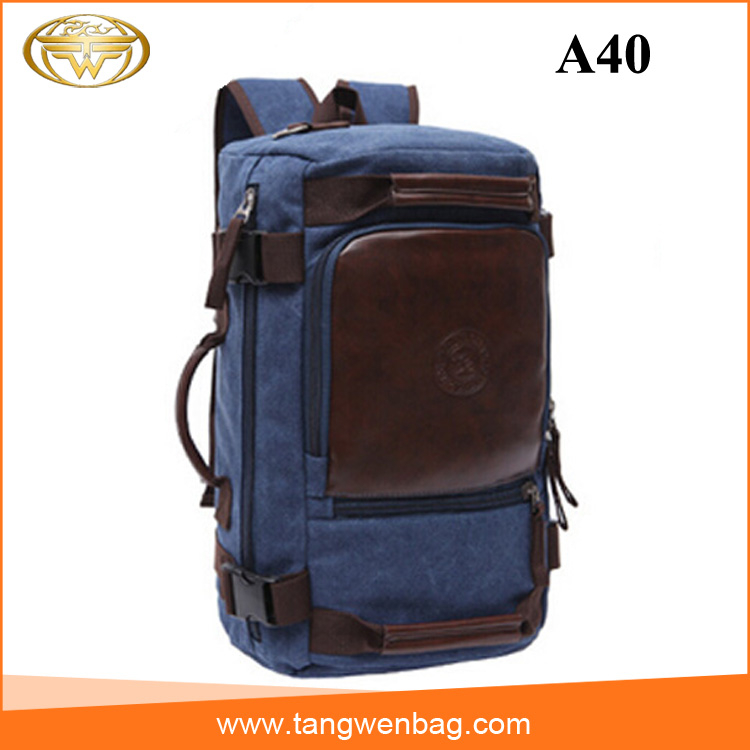 china supplier wholesale outdoor travel bag canvas backpacks for men