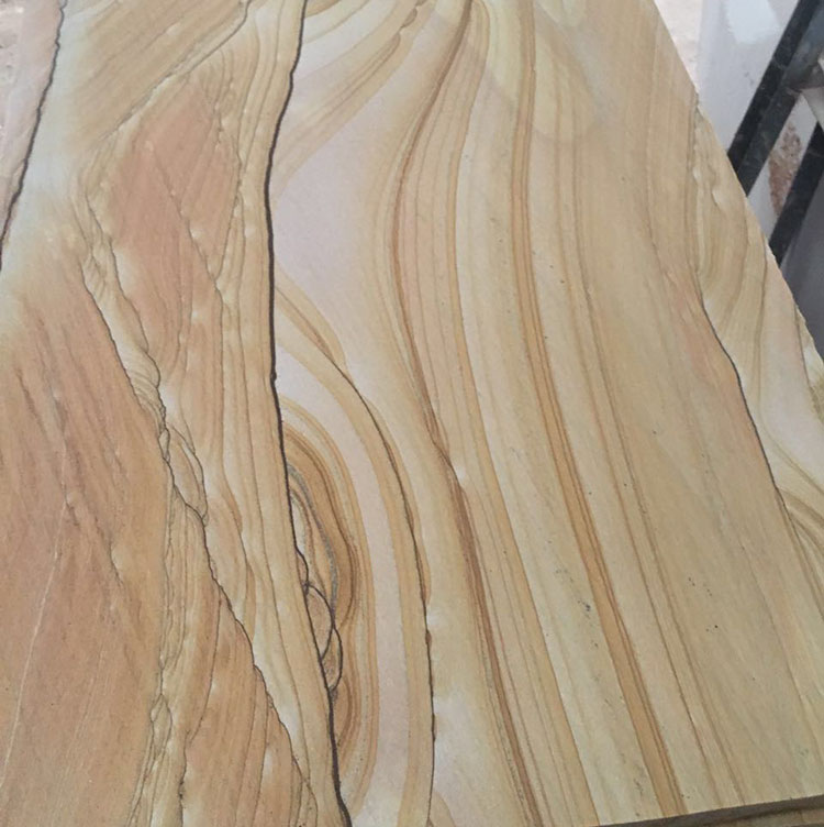 Sichuan Yellow Wood Sandstone For Paving