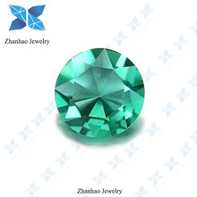 machine cut cofe round green loose cz for fashion jewelry