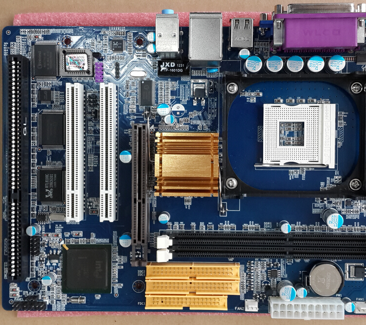 factory price for micro atx, desktop, DDR, ISA, IDE, SATA, ps2, P4 motherboard