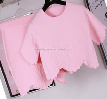 New fashion women knit twin set waved sweater, contain matching knit top and dress