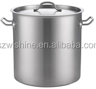High Body Stainless Steel Cooking Pot with Lid