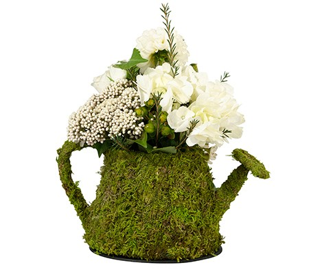 moss flower girl basket for wedding supplies