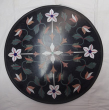 Rare Stone Inlay Heirloom Painting ,Vintage Pietra Dura Plaque with Herald