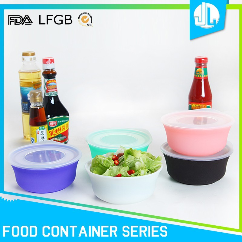 Nice design silicone material one time use food container