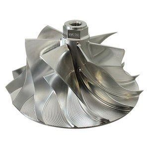 CNC milling stainless steel hydraulic billet high-flow compressor wheel
