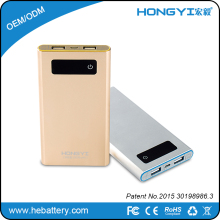 slim portable full power 10000mah battery charger mobile power bank HE- 758S[HONGYI]