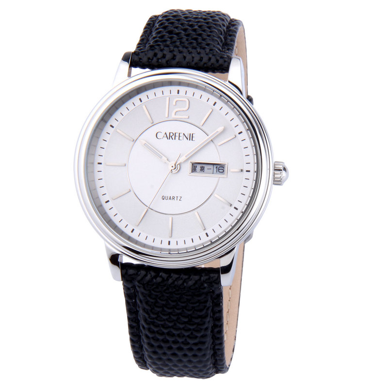 Custom logo high quality luxury business man wrist watch with date display