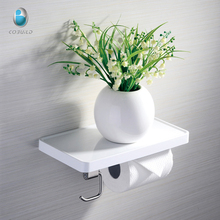 G080002 Toilet tissue holder with ABS shelf,anti-rust 304 stainless steel toilet paper holder with hook