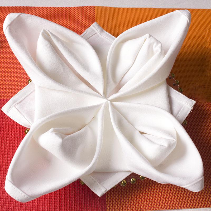 list of cloth napkins white