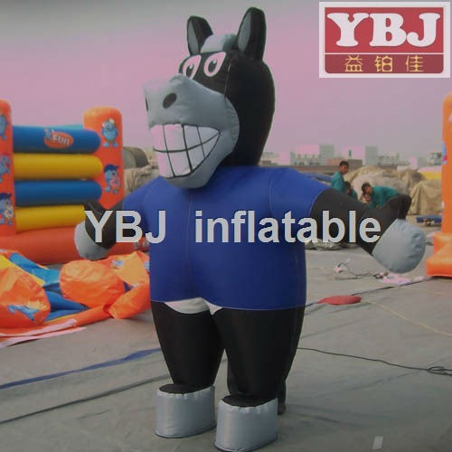 moving inflatable cow cartoon