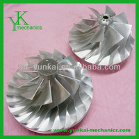Precision steel turbo cnc machining impeller, high precision cnc machining impeller