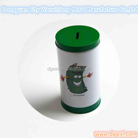 round coin tin box