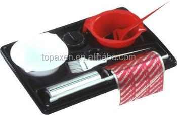 Salon Coloring Set Tray Dispenser Color Bowls Color