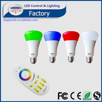 AC85-265V E27 9W RGB Multicolor LED Lamp Light 16 Color Changing Bulb + RF Remote Control