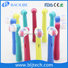 Rechargeable power toothbrush head EB-17A replacement for Braun with 4 color