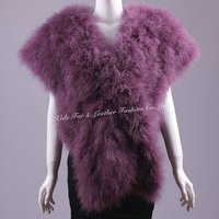 Ostrich Feather Shawls Purple 2012-2013 newest fashion
