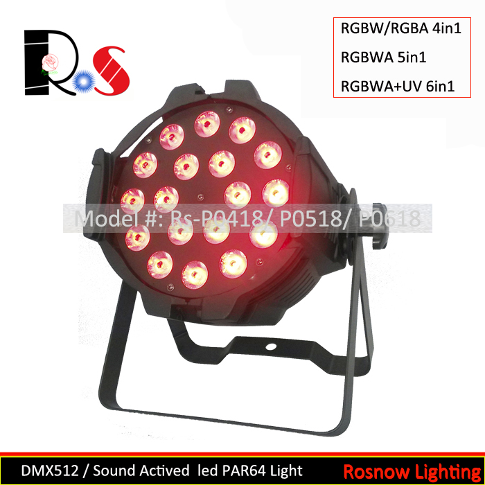 RGBWA 5in1 colorful mixing led DJ par 64 for stage party show lighting LED nightclub lighting equipment