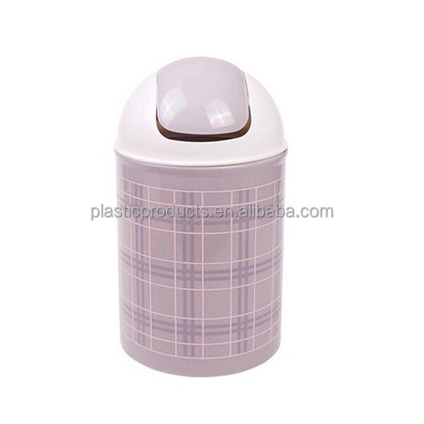 England High Quality Grey Plastic Trash Can Mini Trash Can