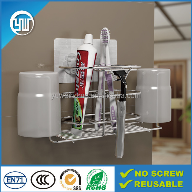 bathroom set toothbrush holder & wall sticky toothbrush rack