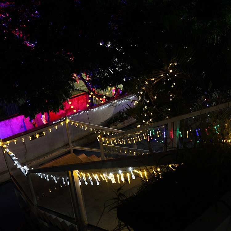 Holiday decoration outdoor stick 100 led christmas lights