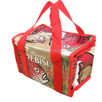 Custom Printing Eco PP Non Woven Insulated Cooler Lunch Bag