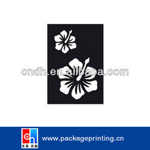 Plastic flower drawing stencil