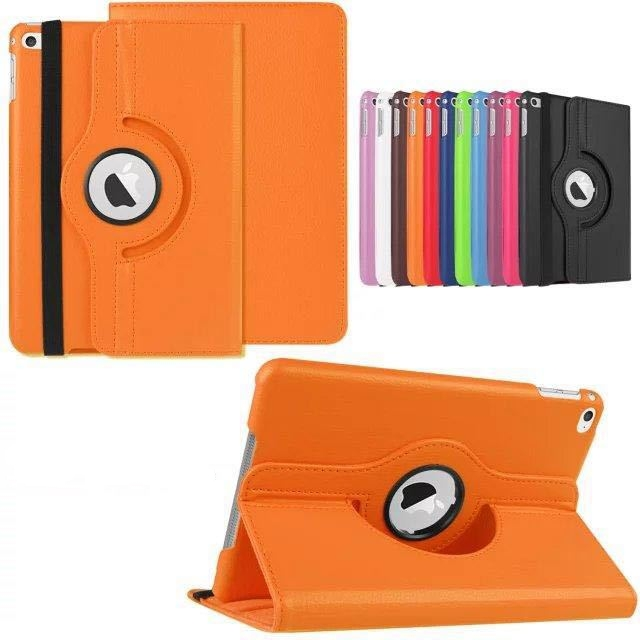 360 Rotation PU Leather case for Apple iPad Mini 4 Smart cover flip cases with stand function