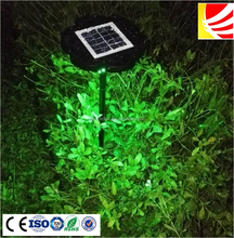 Multi color green red white blue RGB solar yard street light