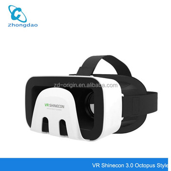 VR Shinecon 3.0 Octopus Style 3D Mobile VR Virtual Reality Glasses Head Mount Helmet ABS Shell Headset for 4.5-6' Mobilephone