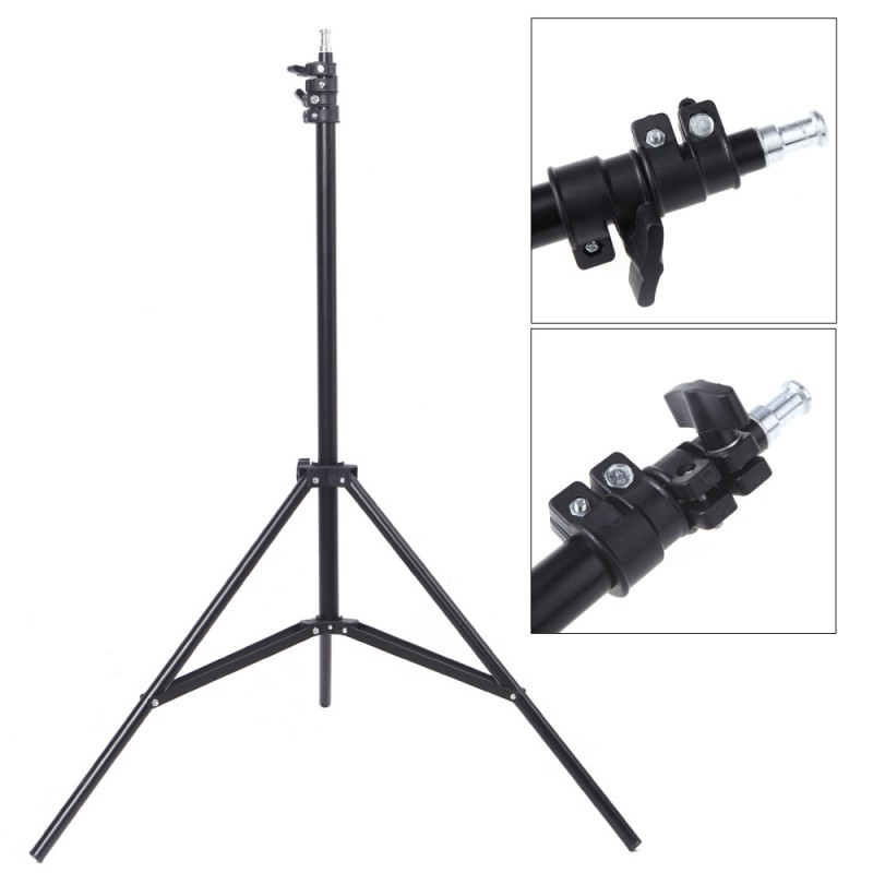 Professional Photo Studio Lighting Kit 45W 5500K Bulbs Light Stands Black White Green Fabric Back Soft Reflector Umbrellas