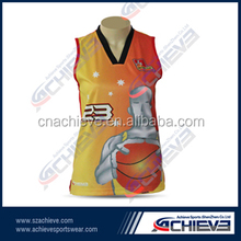 100% polyester custom sublimation basketball uniform all over print basketball jerseys