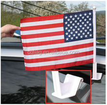Factory direct sell Customized polyester car window flags american flag