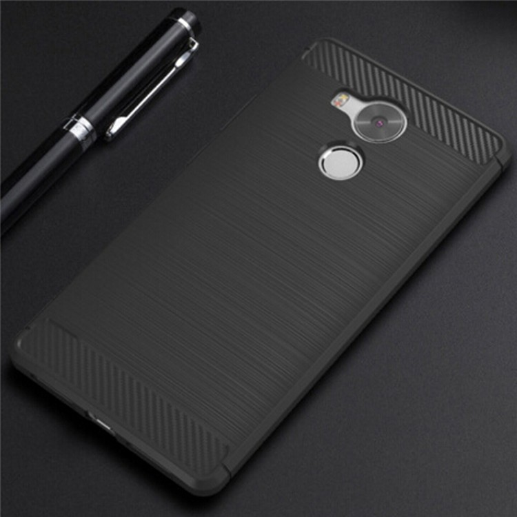 Cabon Fiber Brush TPU Mobile Phone Back Case Cover For Huawei Mate 8
