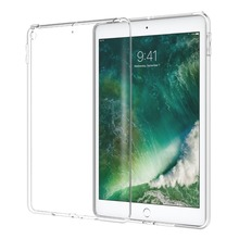 Premium Soft Skin Flexible Bumper Transparent Clear TPU Gel Back Case Cover For Apple iPad 2017 9.7 Inch
