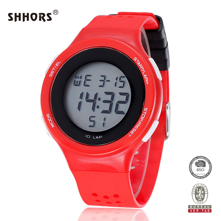 SHHORS 3ATM water proof multi functions clock wrist girl latest hand watch