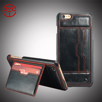 Casemall New Arrival Caseme R64 PU Leather Case For iPhone 6s Plus with Card slots on Back Cover