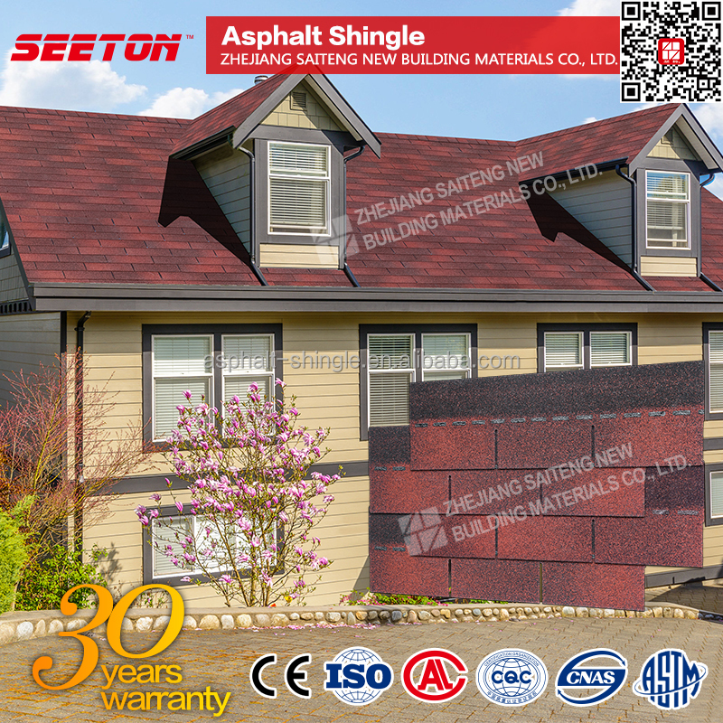 Venice Red asphalt shingle Free Samples clay tiles