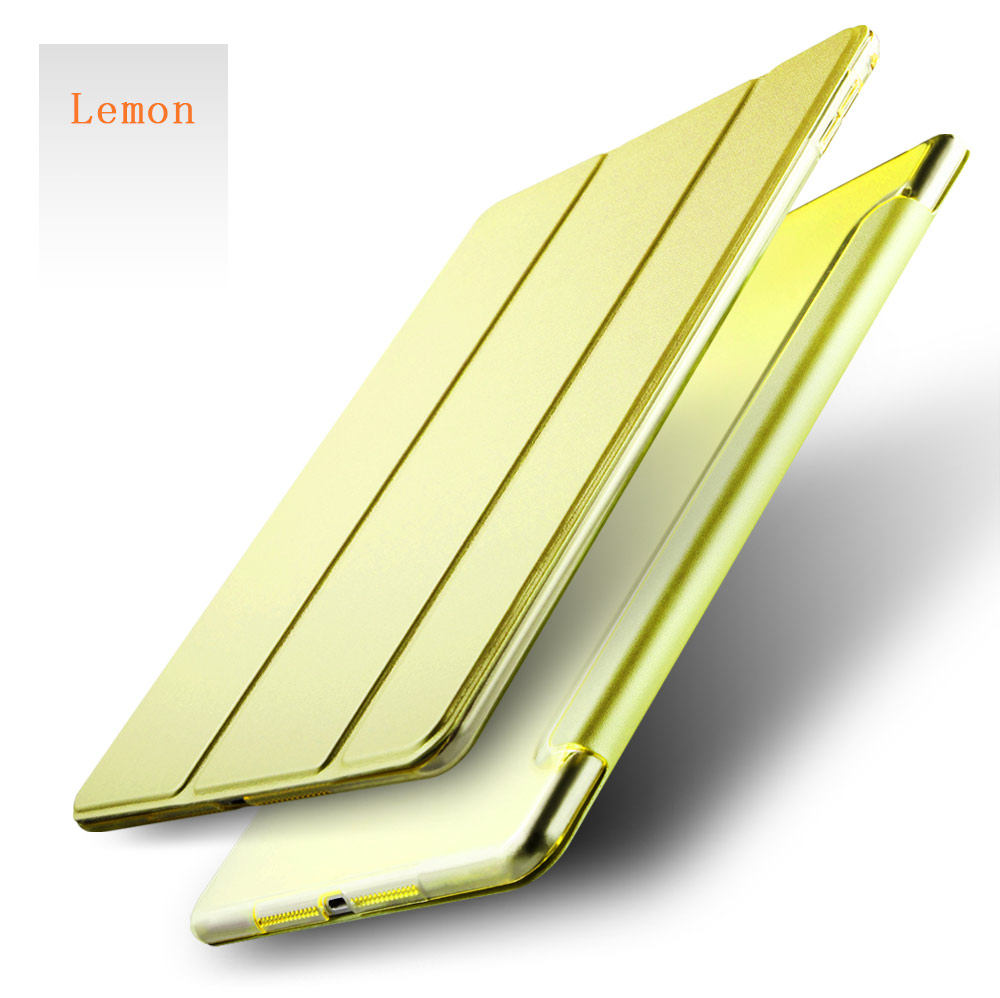 Joy Color Wholesale Stock New Auto Sleep Ultra Thin Leather Smart Stand Cover Case For iPad For 2017 New iPad
