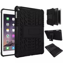 For iPad Mini 4 Shockproof Dual Layer Grip Defender Armor Case Heavy Duty Combo Hybrid Phone Cover Build-in Kickstand